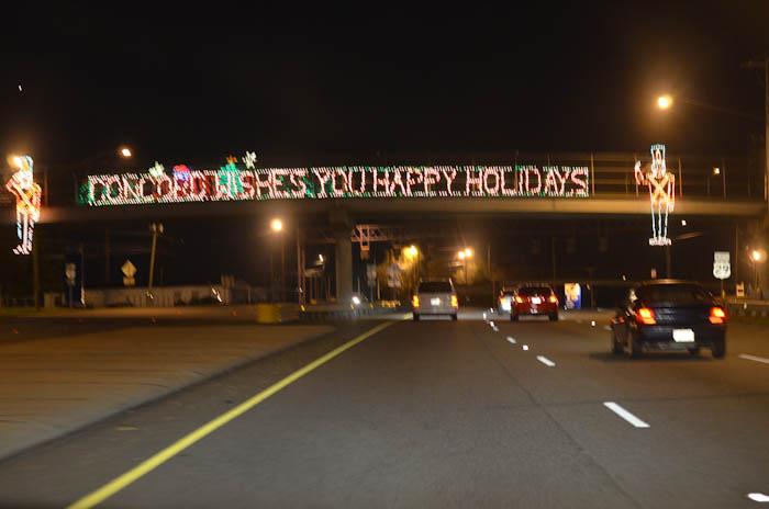 Charlotte Motor Speedway lights | One Moms World Mom Blog - Jen Houck