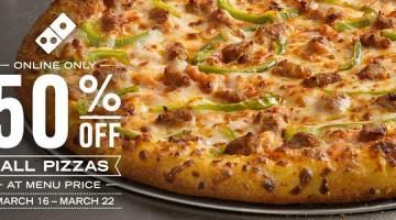 Dominos Pizza Half Off
