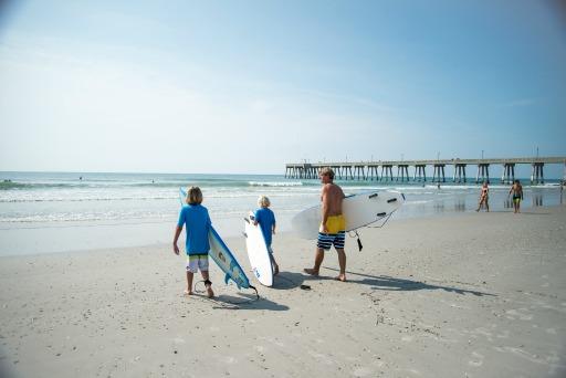 Family Surfing Wrightsville Beach