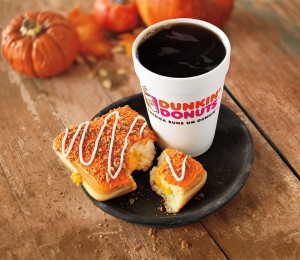 Hot Coffee with Pumpkin Cheesecake Square Horizontal Lifestyle