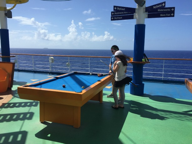 Pool Table Aboard Carnival Sunshine