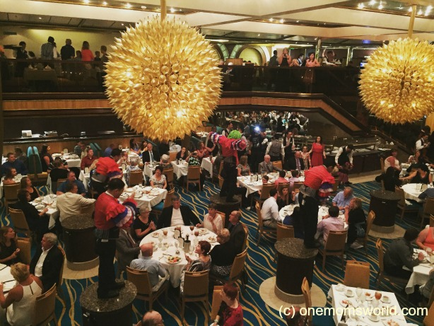 Waiters Entertaining on Carnival Sunshine
