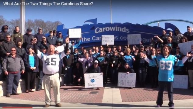 Carowinds Sends Special Video Message to #CarolinaPanthers