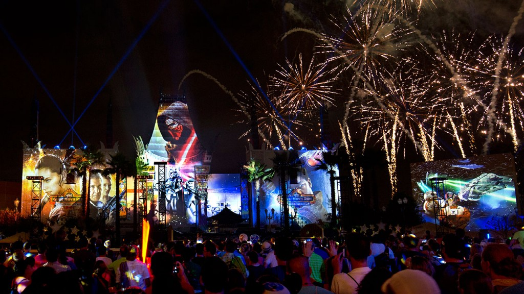 walt disney world star wars fireworks
